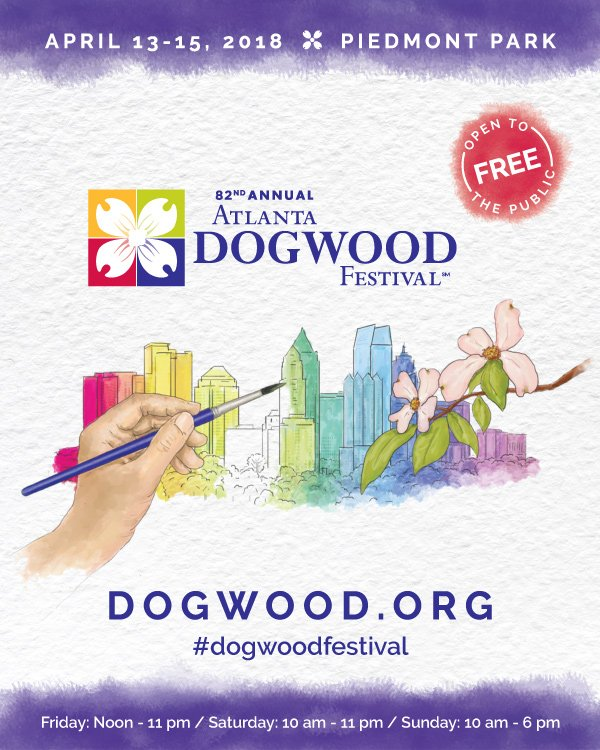 2018 Atlanta Dogwood Festival Program Guide and Map