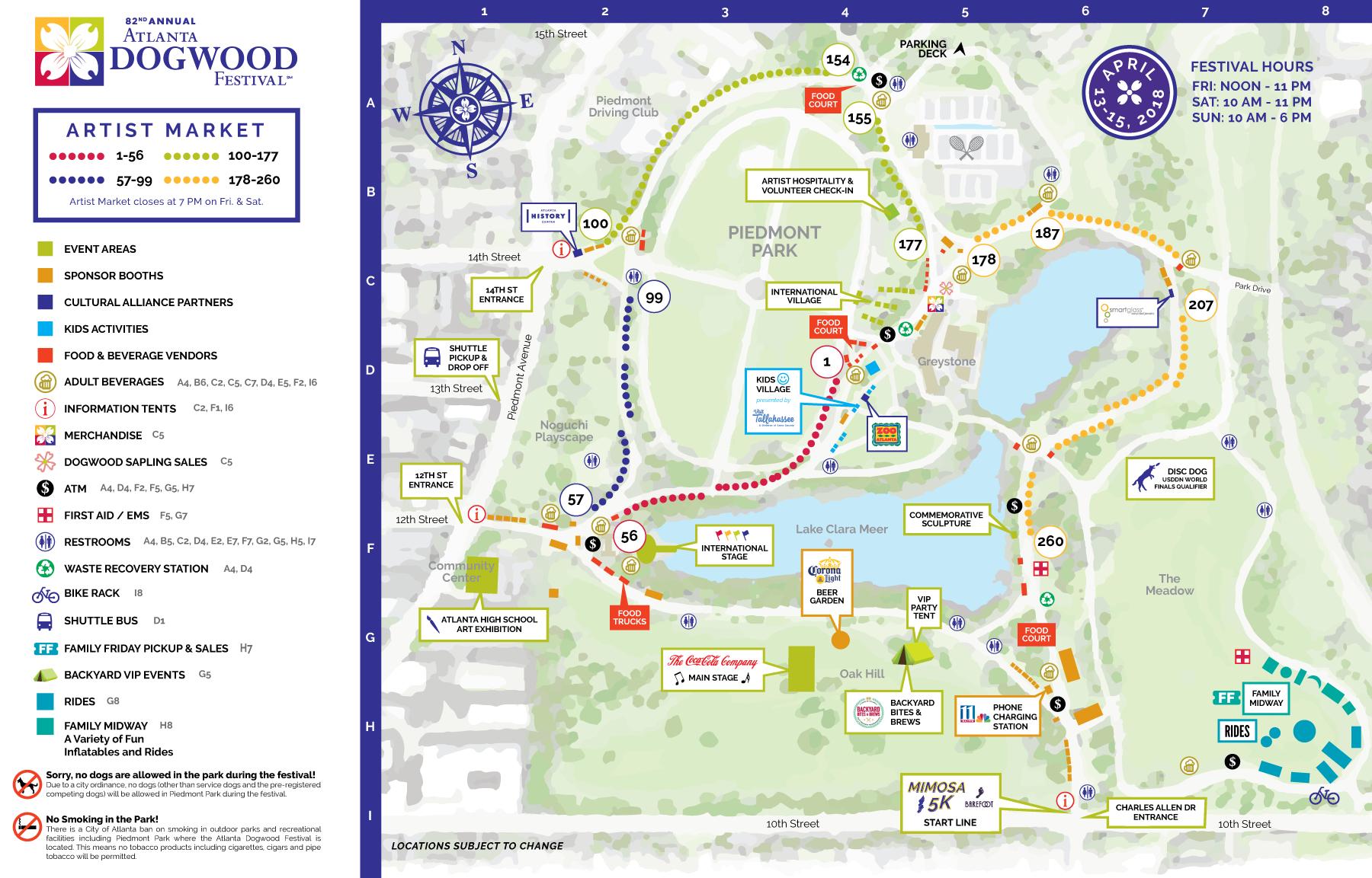 Atlanta Dogwood Festival Festival Map