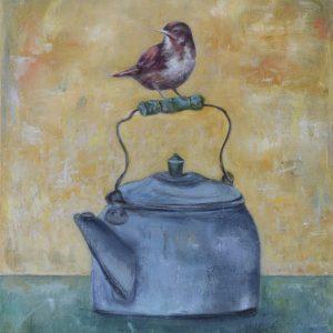 18x24 Finch and teakettle - E. Edmeades