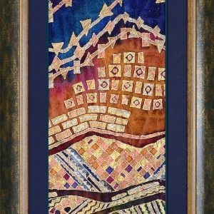 Blue Ridge Illuminated - Farhana Hemming 13x29.5 Framed - Farhana Artist