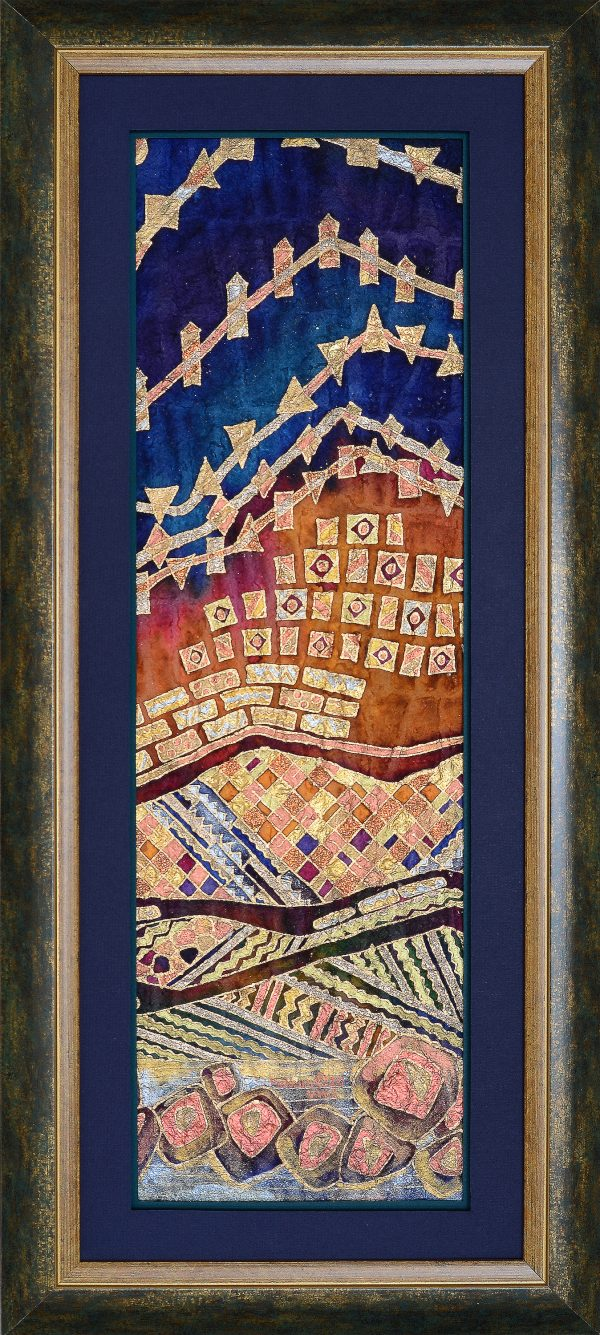 Blue Ridge Illuminated - Farhana Hemming 13x29.5 Framed - Farhana Artist