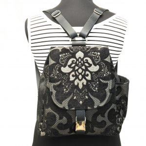 Black Lotus Flower Backpack - Jessica Joy