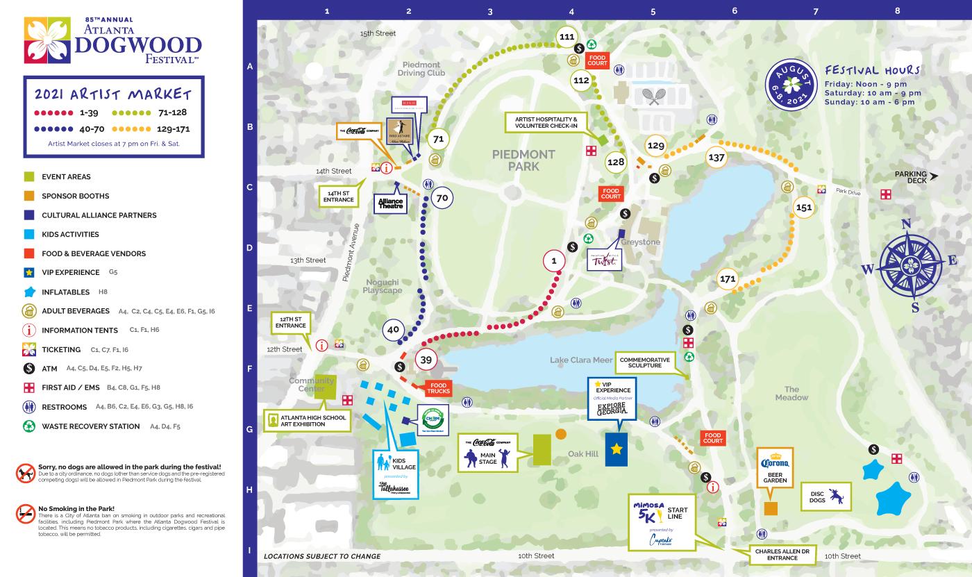 85th Annual Atlanta Dogwood Festival Map